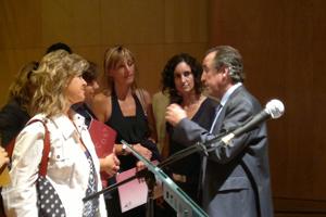 Conversación con Emilio Duró tras su conferencia 'Gestión de la ilusión y el optimismo en tiempos de cambio'. Centro Ágora de Vilafranca, programa Desenvolupa't - dessarrollo empresarial y profesional.