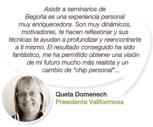 Testimonio de Queta Domènech - Presidenta de Vallformosa