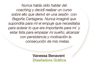 Testimonio de Vanessa Benavent - Diseñadora Gráfica